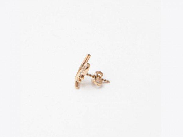 Mono orecchino in oro rosa con messaggio LOVEe brillanti - Ivy Gioielli Prato