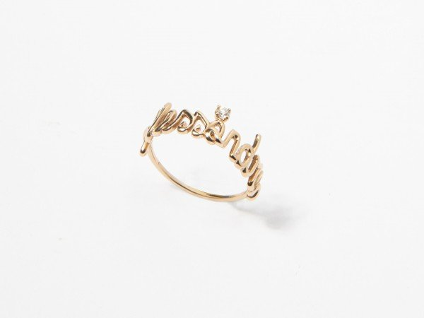 Anello in oro e brillante con nome personalizzato - Ivy Gioielli Prato