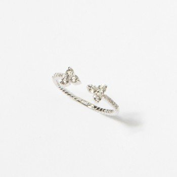 Anello in oro bianco con motivo in brillanti - Ivy Gioielli Prato