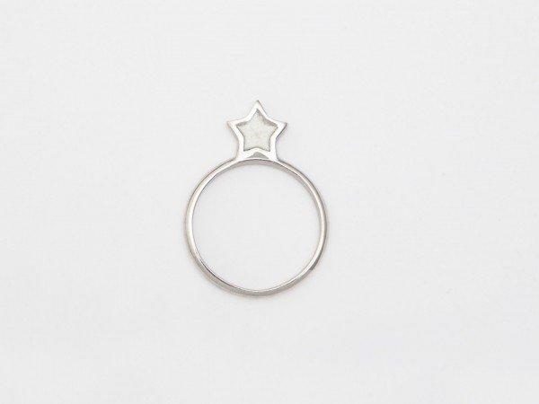 Anello in argento con stella in smalto madreperla - Ivy Gioielli Prato