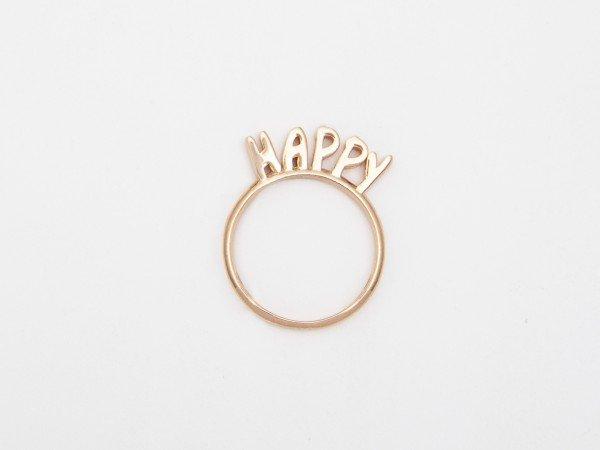 Anello in argento con messaggio HAPPY - Ivy Gioielli Prato
