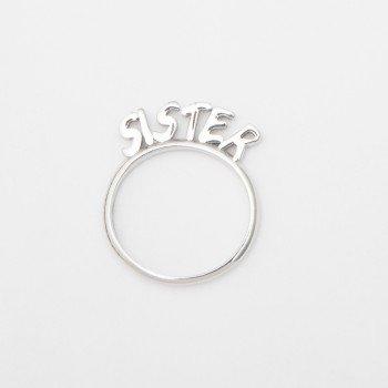 Anello in argento con messaggio SISTER - Ivy Gioielli Prato