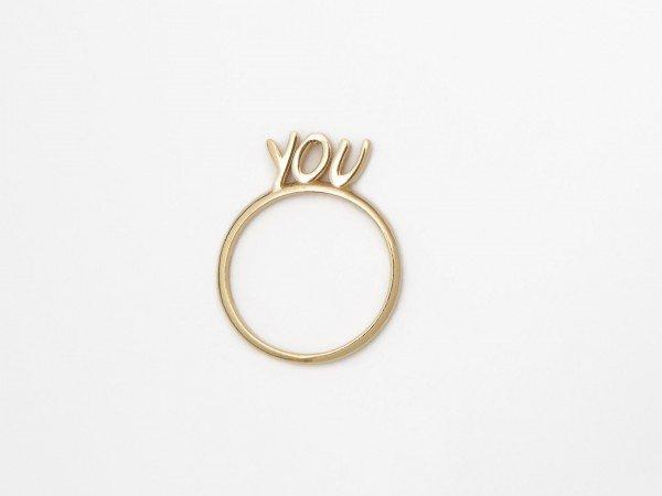 Anello in argento con messaggio YOU - Ivy Gioielli Prato