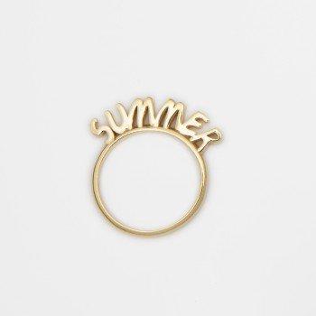 Anello in argento con messaggio SUMMER - Ivy Gioielli Prato