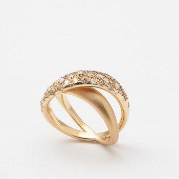 Anello fascia in oro rosa con brillanti Brown - Ivy Gioielli Prato