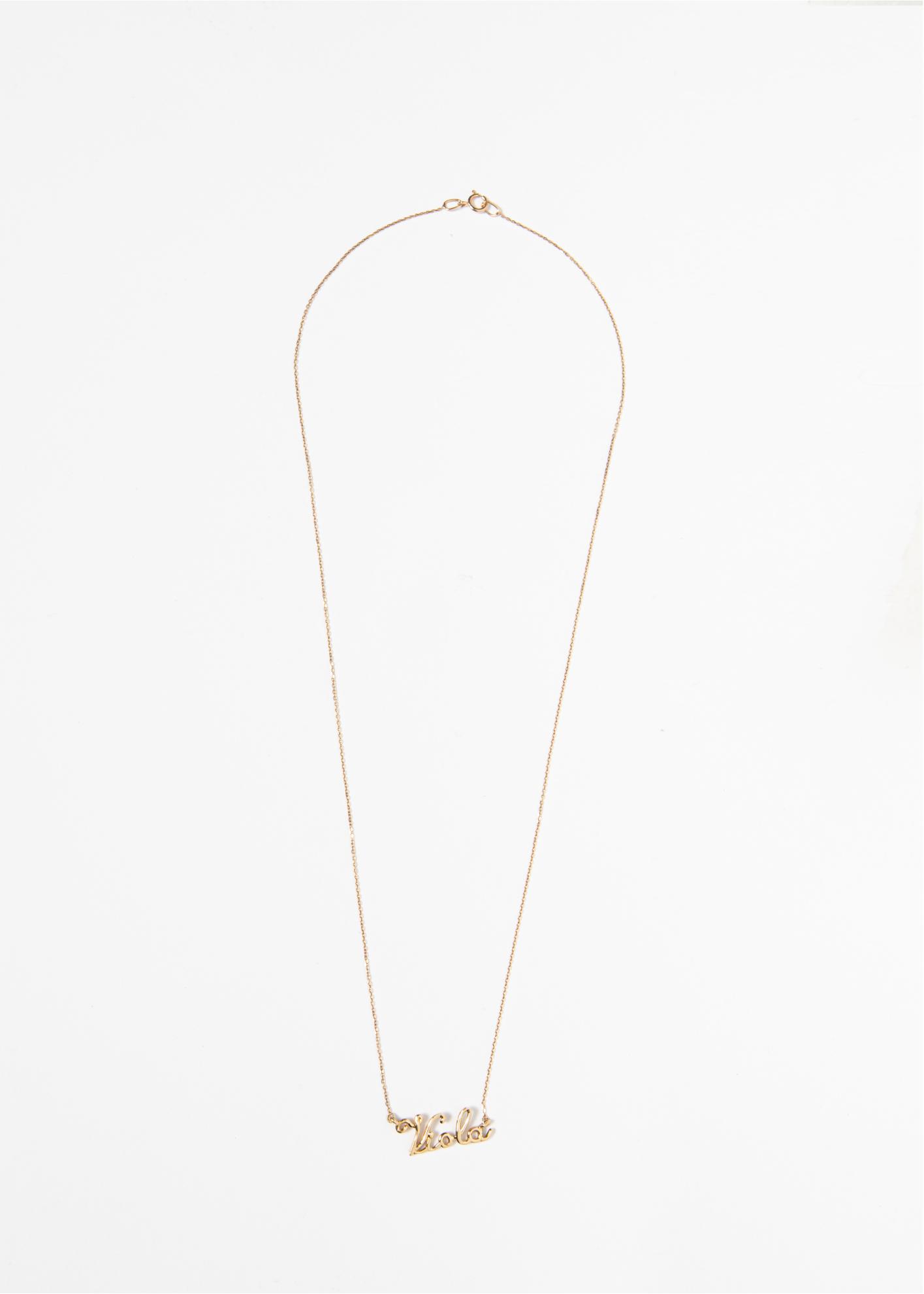Collana in oro rosa con nome personalizzabile - Ivy Gioielli Prato