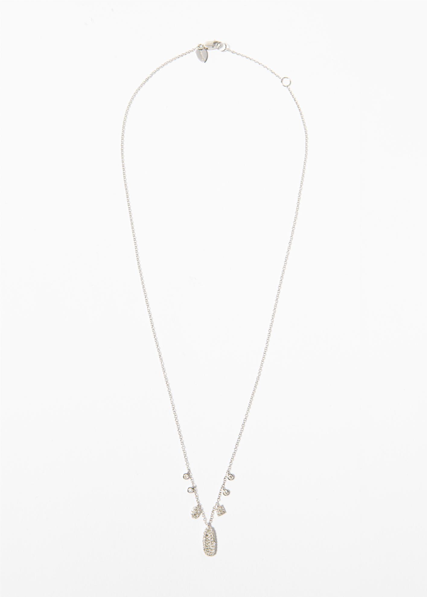 Collana in oro bianco con pendenti modello fantasia - Ivy Gioielli Prato