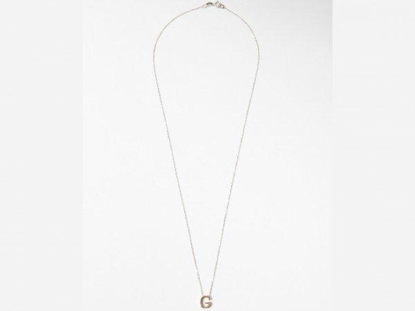 Collana in oro bianco lettera pendente in oro rosa - Ivy Gioielli Prato